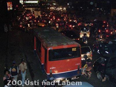 Jakarta - dopravní zácpa