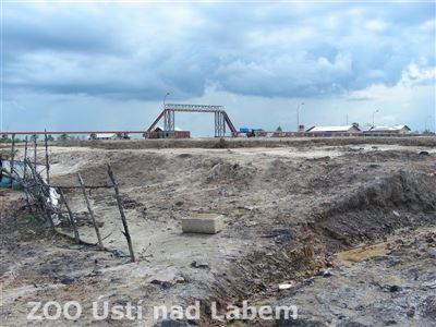 Staveniště na místě mangrovových porostů