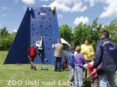 Horolezecká stěna byla součástí soutěží s firmou EKOKOM